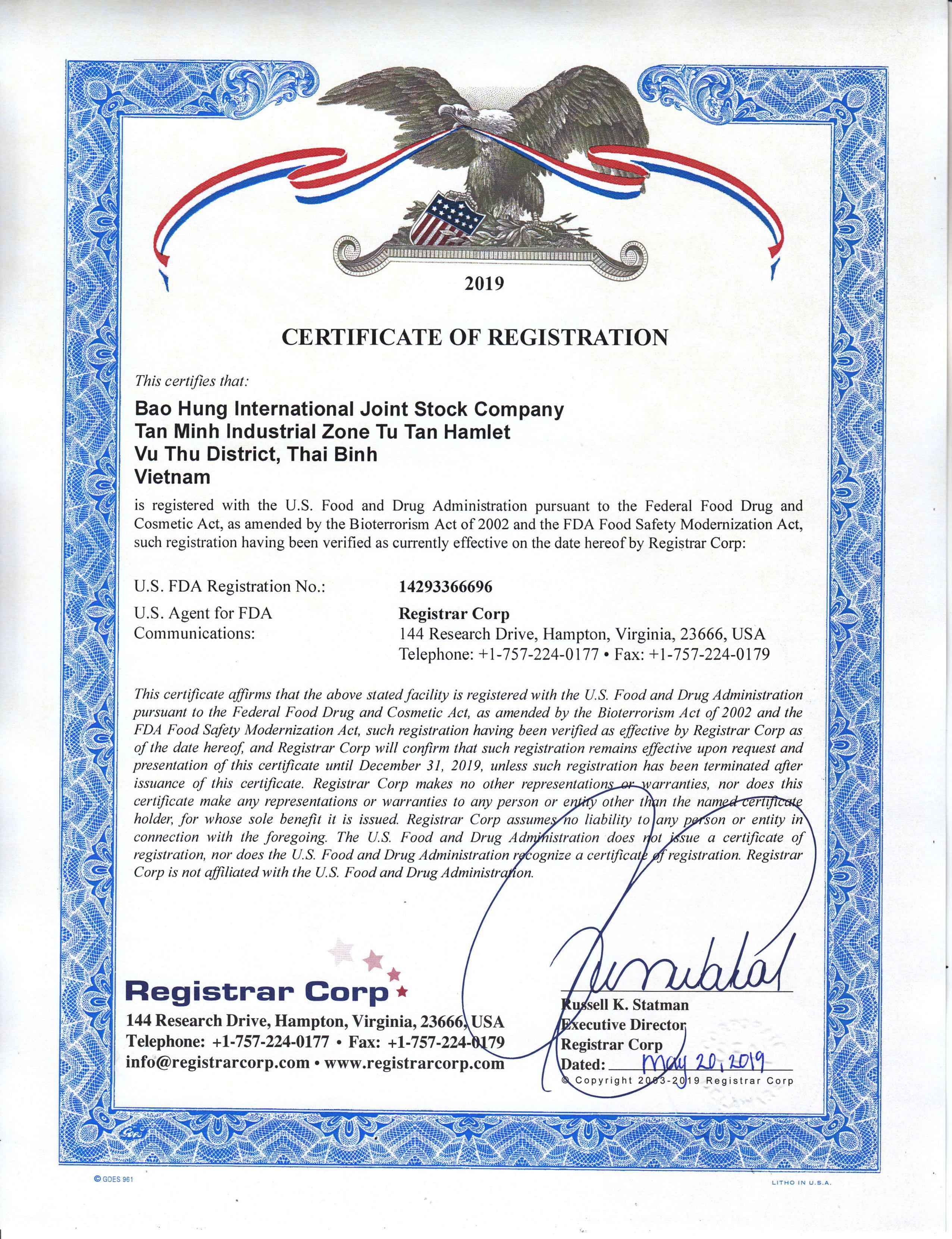 Bao Hung International Joint Stock Company